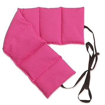 Cojín térmico para la espalda con siete compartimientos y cintas ...