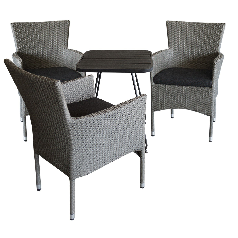 4tlg bistro und balkonm bel set sitzgruppe. Black Bedroom Furniture Sets. Home Design Ideas