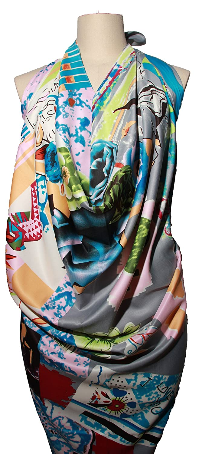 Women's infinity scarves shrug silk scarf and wraps, PERFECT! for all seasons - Jolie