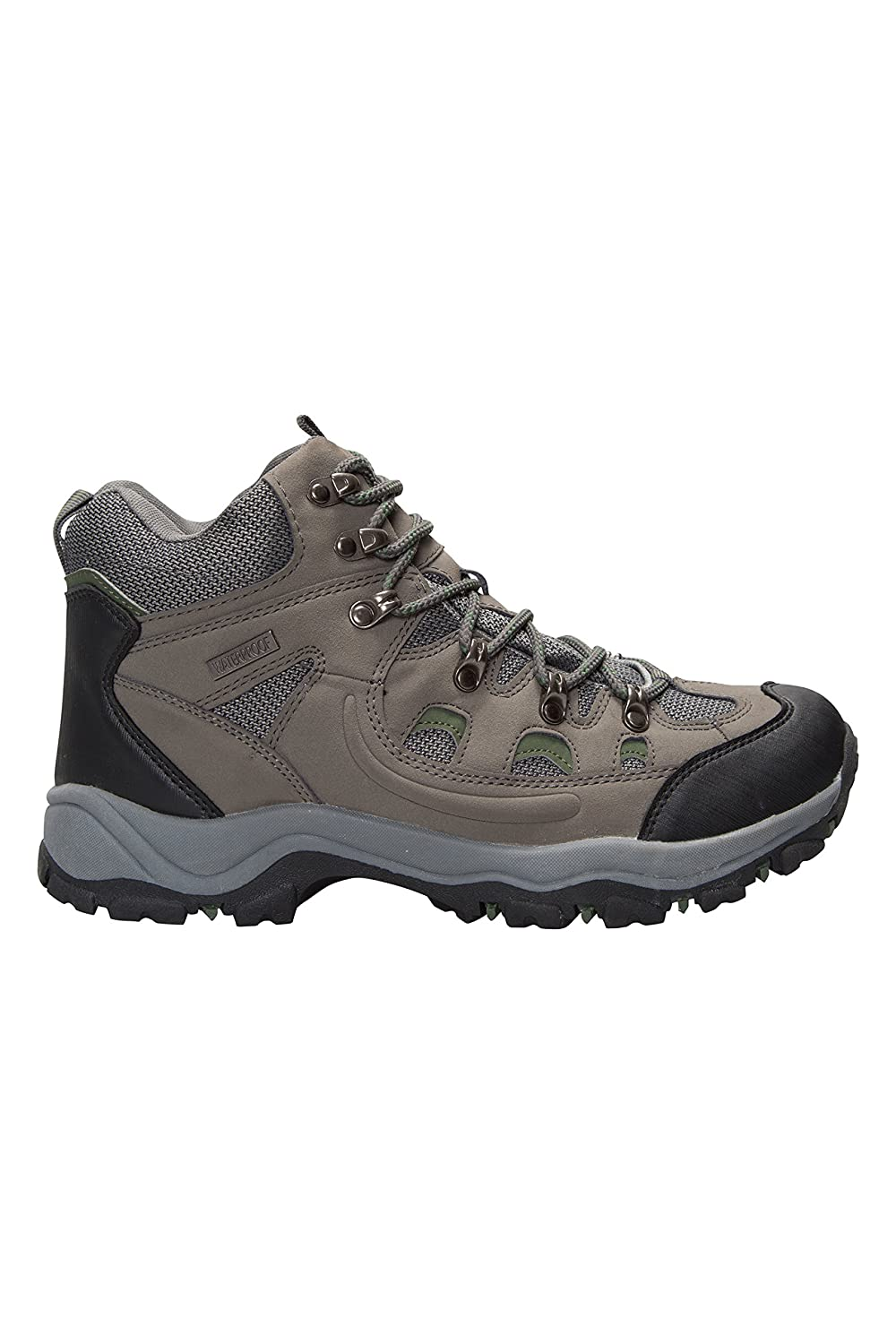 Mountain Warehouse Adventurer Mens Boots - Waterproof Rain Boots, Synthetic  & Textile Walking Shoes, Added Grip Mens All Season Shoes - Footwear For  Hiking ...