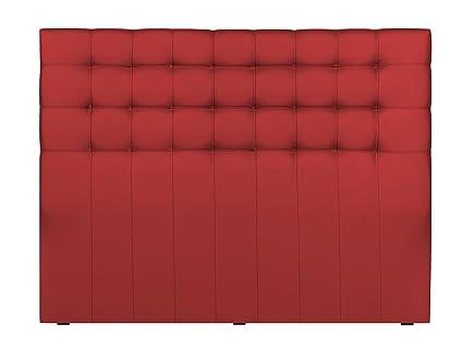 Windsor Co Tête De Lit Tissu Rouge 160 X 10 X 120 Cm