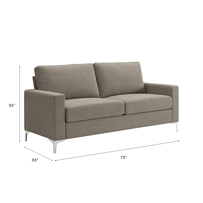 Amazon.com: Elegante sofá moderno, pequeños espacios, tamaño ...