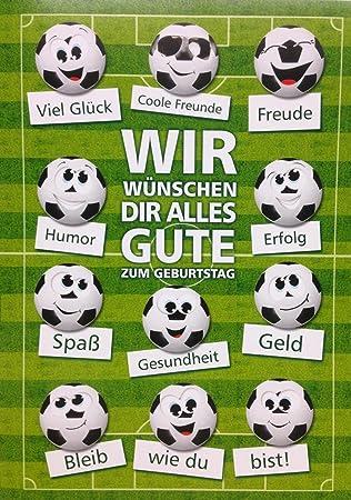 A4 Xxl Geburtstagskarte Fussball Von Uns Allen Gute Wunsche Amazon