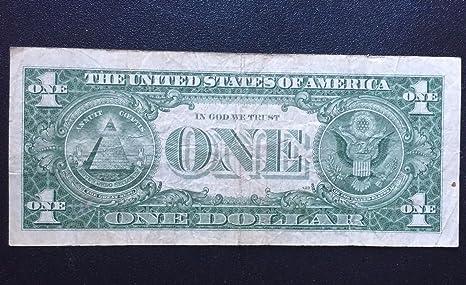 Amazon.com : 1957-B $1 Silver Certificate -- **STAR NOTE** -- Fine+ ...