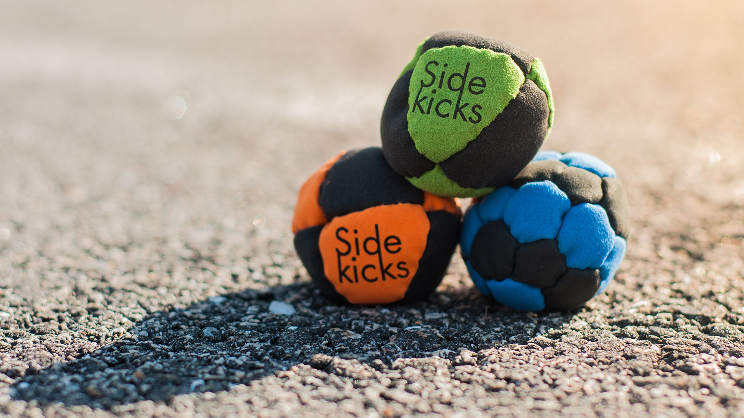 Sidekicks Hacky Sack - Classic Sand Filled Footbag   Best for Dirtbag Practice, Juggling Practice Hand Stitched Synthetic Suede Sand Hacky Sack Dirt Bag (Orange)