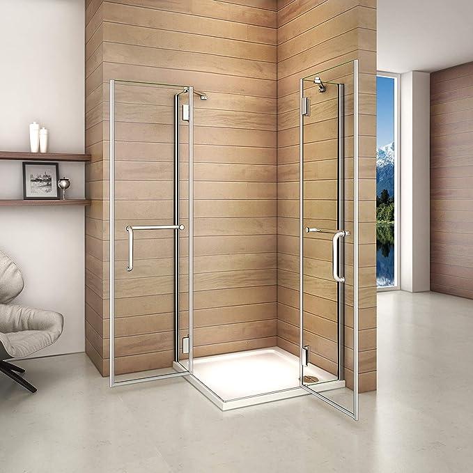 Mamparas Cabina de Ducha cristal 8mm Puerta Abatible de Baño 80x100x190cm: Amazon.es: Bricolaje y herramientas
