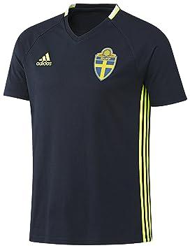 Adidas Camiseta de diseño de la Asociación Sueca de Suecia Entrenamiento Camiseta: Amazon.es: Deportes y aire libre