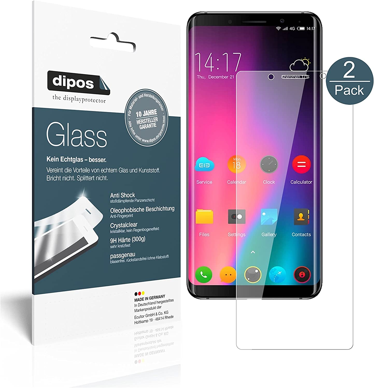 dipos I 2X Protector de Pantalla Compatible con Elephone U Pro ...