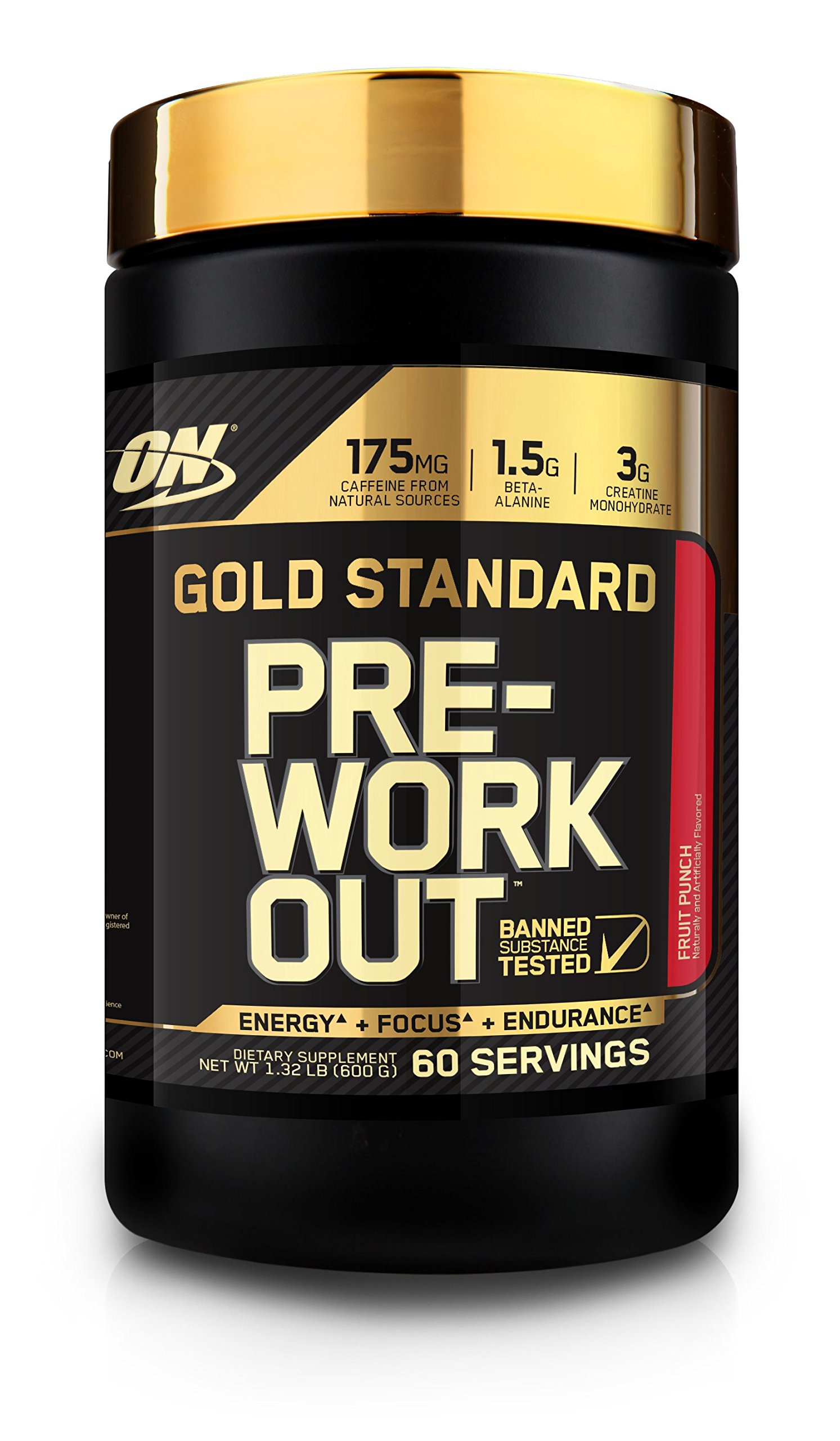 Optimum Nutrition 60 Servings Gold Standard Pre-Workout with Creatine, Beta-Alanine, and Caffeine for Energy, 1.32 Pound