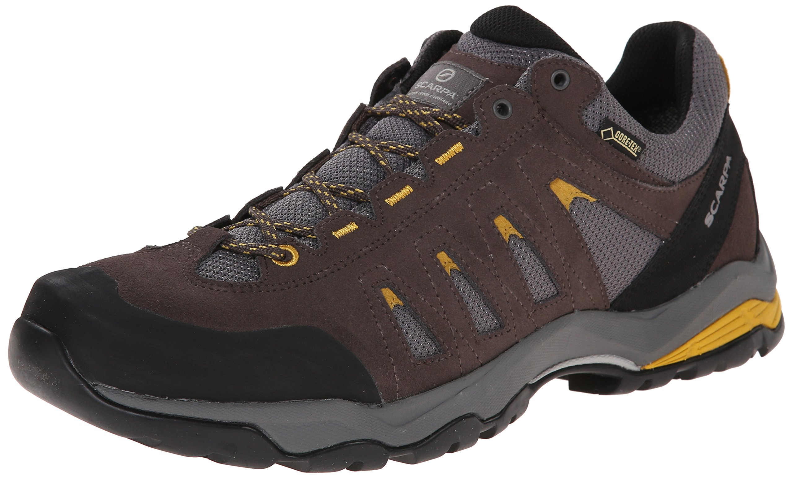 Scarpa Men's Moraine GTX Hiking Shoe, Charcoal/Mustard, 41.5 EU/8.5 M US
