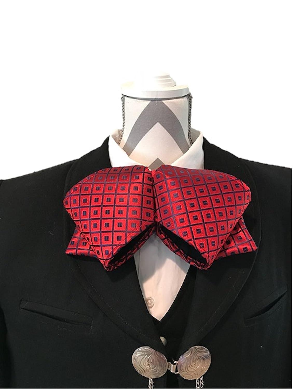 Hello Mariachi pajarita Mono traje de charro, rojo brocado ...