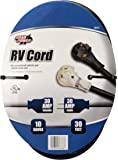 Road Power 95707508 10/3 30' STW 30-Amp RV Extension Cord, Heavy Duty, Waterproof Cord, Suitable for Mobile Homes and…