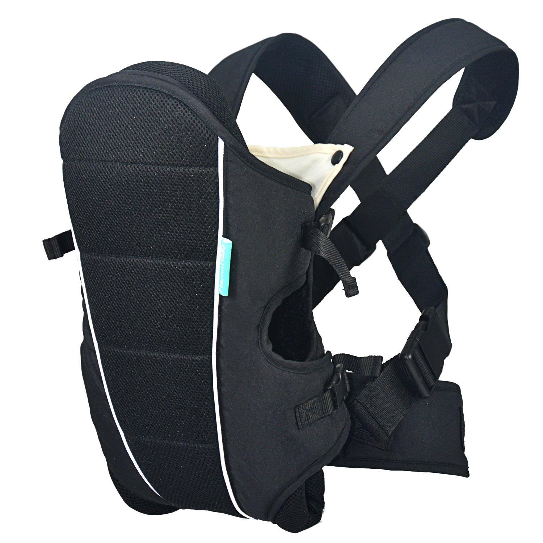 HarnnHalo 3 in 1 kompakte Babytrage verstellbare Kindertrage mit Lätzchen M09 Grau M0902