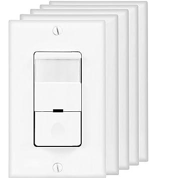 Light Switch Pir: TOPGREENER TDOS5 PIR Motion Sensor Switch for Light and Motor, NEUTRAL  REQUIRED, 5-,Lighting