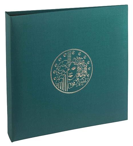 7ba40e4da9 Exacompta Raccoglitore ad anelli con 5 fogli per monete, numismatica,  plastica, Green,