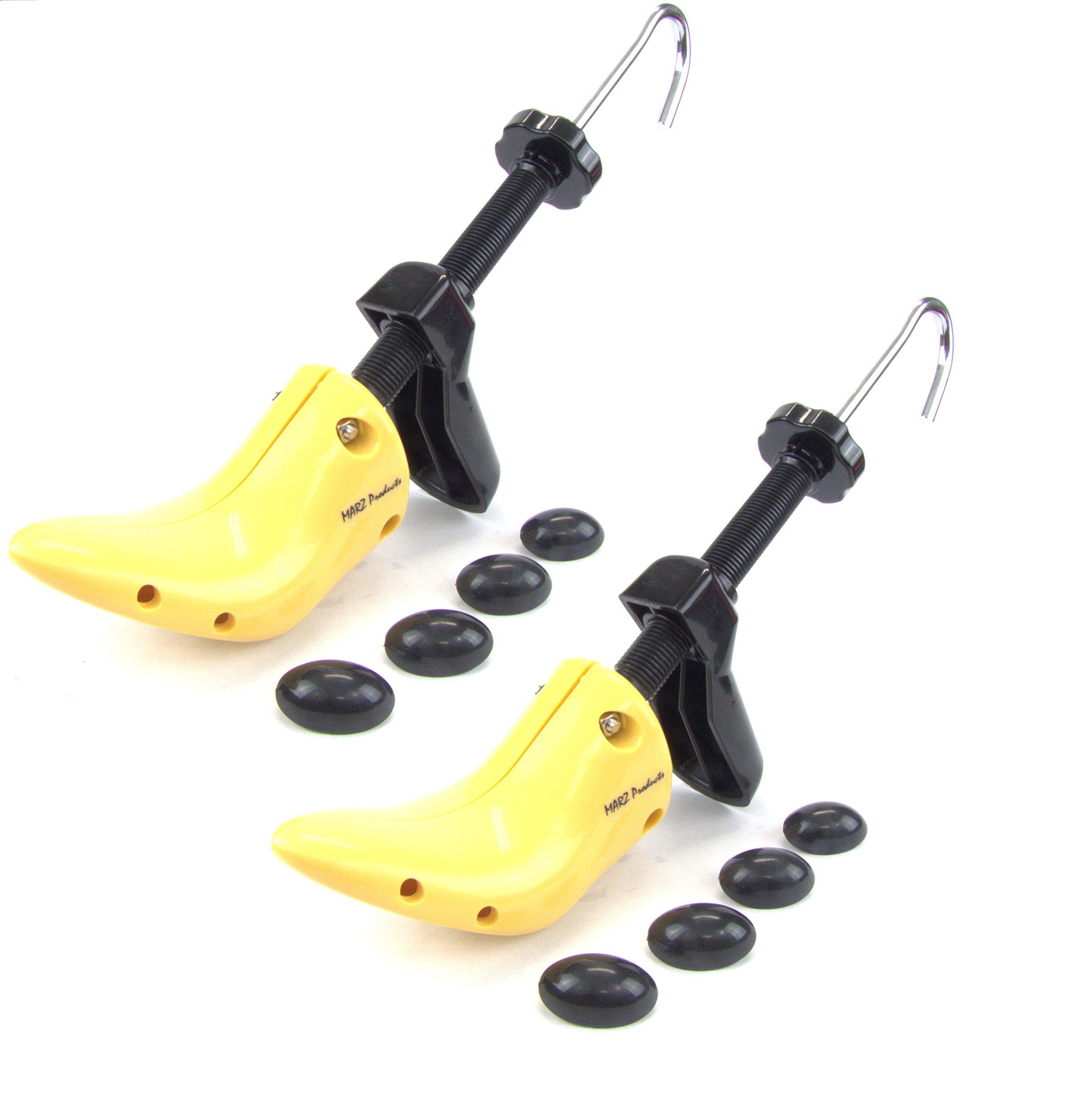 MARZ Products Ladies' High Heel 2-Way Plastic Shoe Stretcher Shaper, Size 5-10 B M US, Yellow & Black PAIR