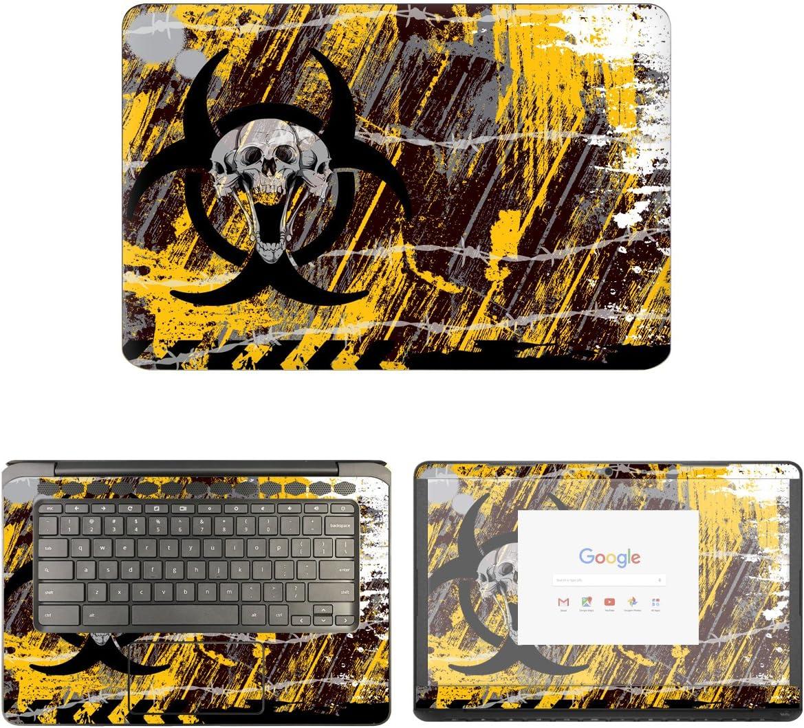decalrus - Protective Decal Hazard Skin Sticker for HP ChromeBook 14-CA061DX (14