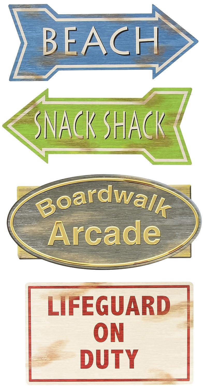 Beach Sign Cutouts (4/Pkg)