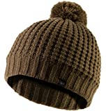 SEALSKINZ 100% Waterproof - Windproof, Breathable - Waffle Knit Bobble hat Ideal for Walking Fishing Hiking Climbing Road Cycling Mountain Biking MTB and Activities in Cold Weather Conditions