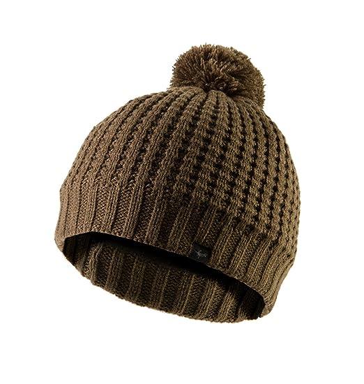 15a42d816 SEALSKINZ 100% WATERPROOF - Windproof, Breathable - Waffle Knit Bobble hat  ideal for walking fishing hiking climbing road cycling mountain biking MTB  ...