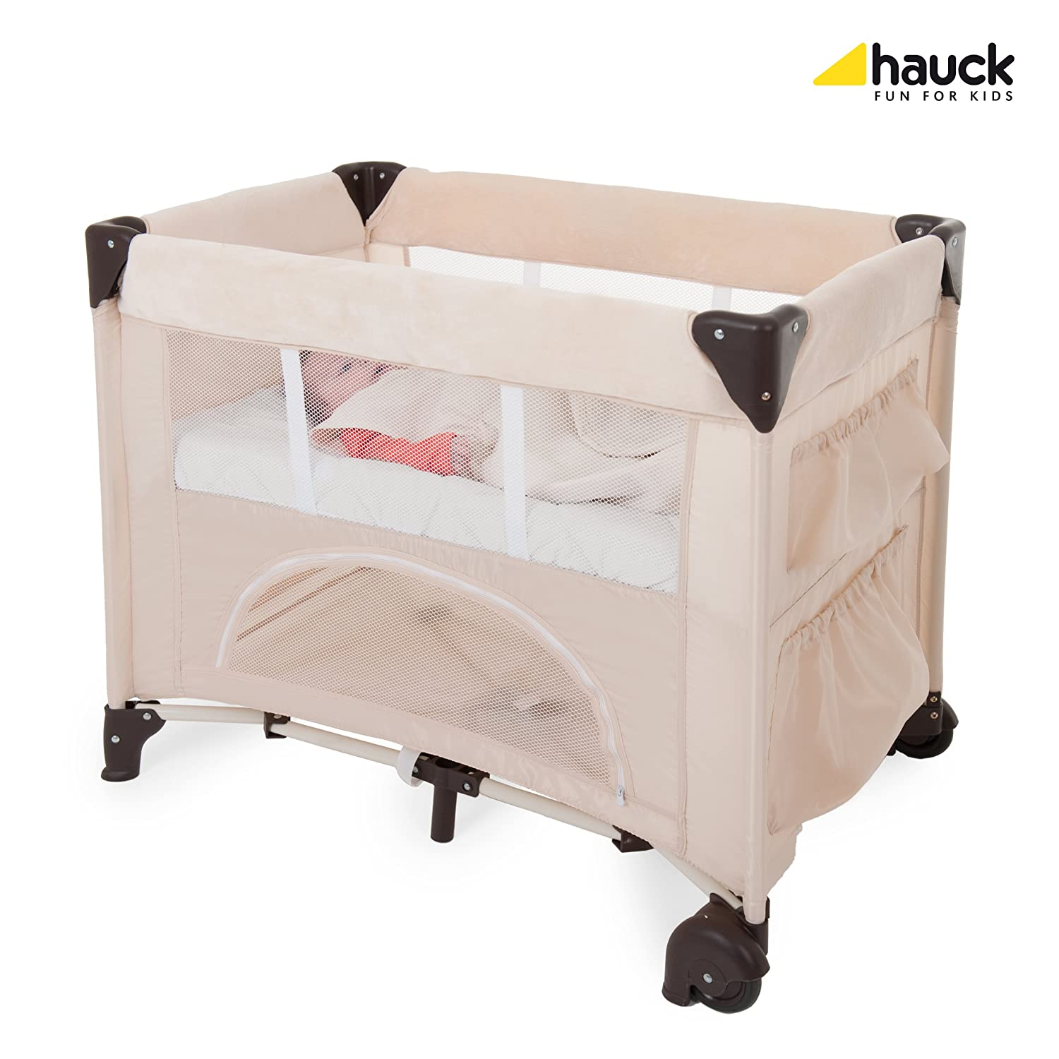 Hauck Bed Me - Sábana ajustable, 80 x 50 cm, color beige