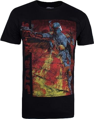 Star Wars Boba Fett Jetpack Camiseta para Hombre: Amazon.es: Ropa y accesorios