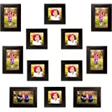 Wens Beautiful Concept MDF and Glass Photo Frame (33.5 cm x 38.5 cm x 11.5 cm, Brown, Set of 12)