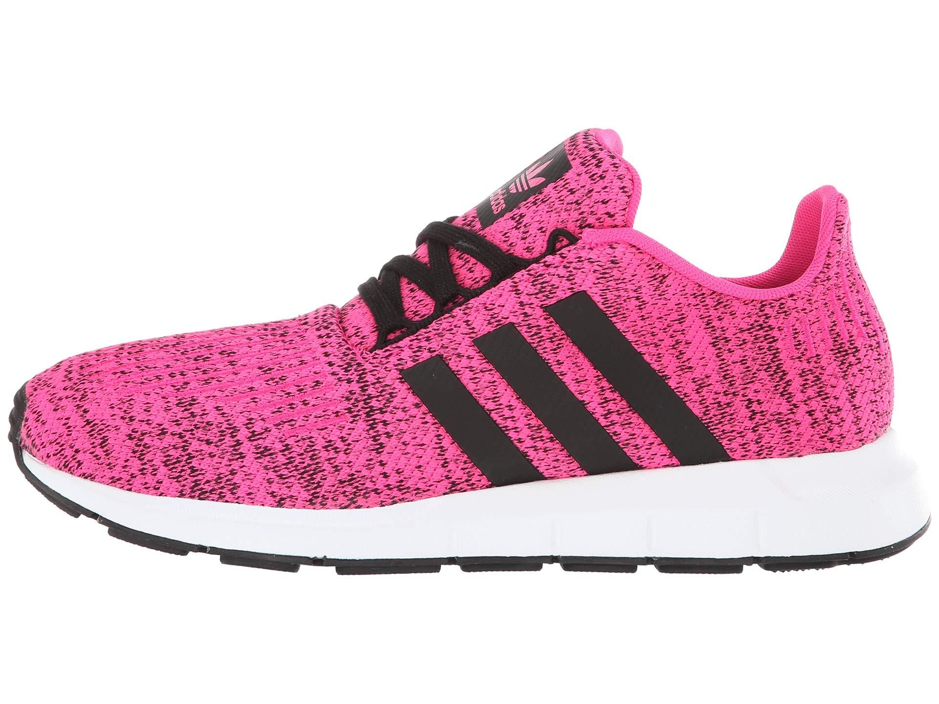 adidas Originals Kids Girl's Swift Run J (Big Kid) Shock Pink/Black 4.5 M US Big Kid by adidas Originals (Image #6)