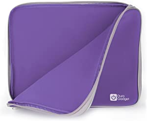 Neoprene Laptop Case In Stylish Purple For Dell XPS 15z, 15 L502x, Inspiron 15 / Intel & 15R By DURAGADGET