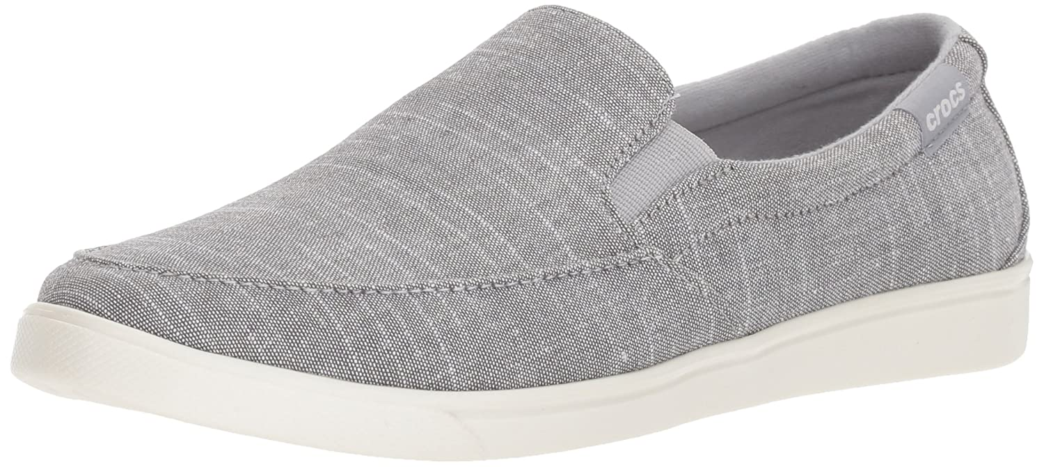 Crocs Women's Citilane Low Canvas Slip-On B071ZSY4T5 5 B(M) US|Light Grey