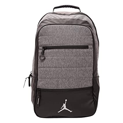 65289cb2e26b9c Amazon.com  Jordan Airborne Jumpman Backpack Black Gray  Computers    Accessories