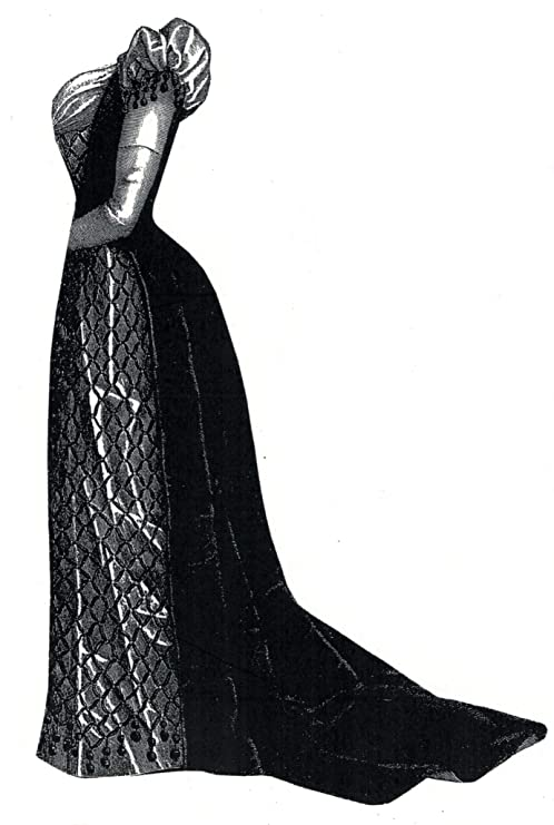 Guide to Victorian Civil War Costumes on a Budget 1891 Green Velvet & Satin Evening Dress Pattern $20.75 AT vintagedancer.com