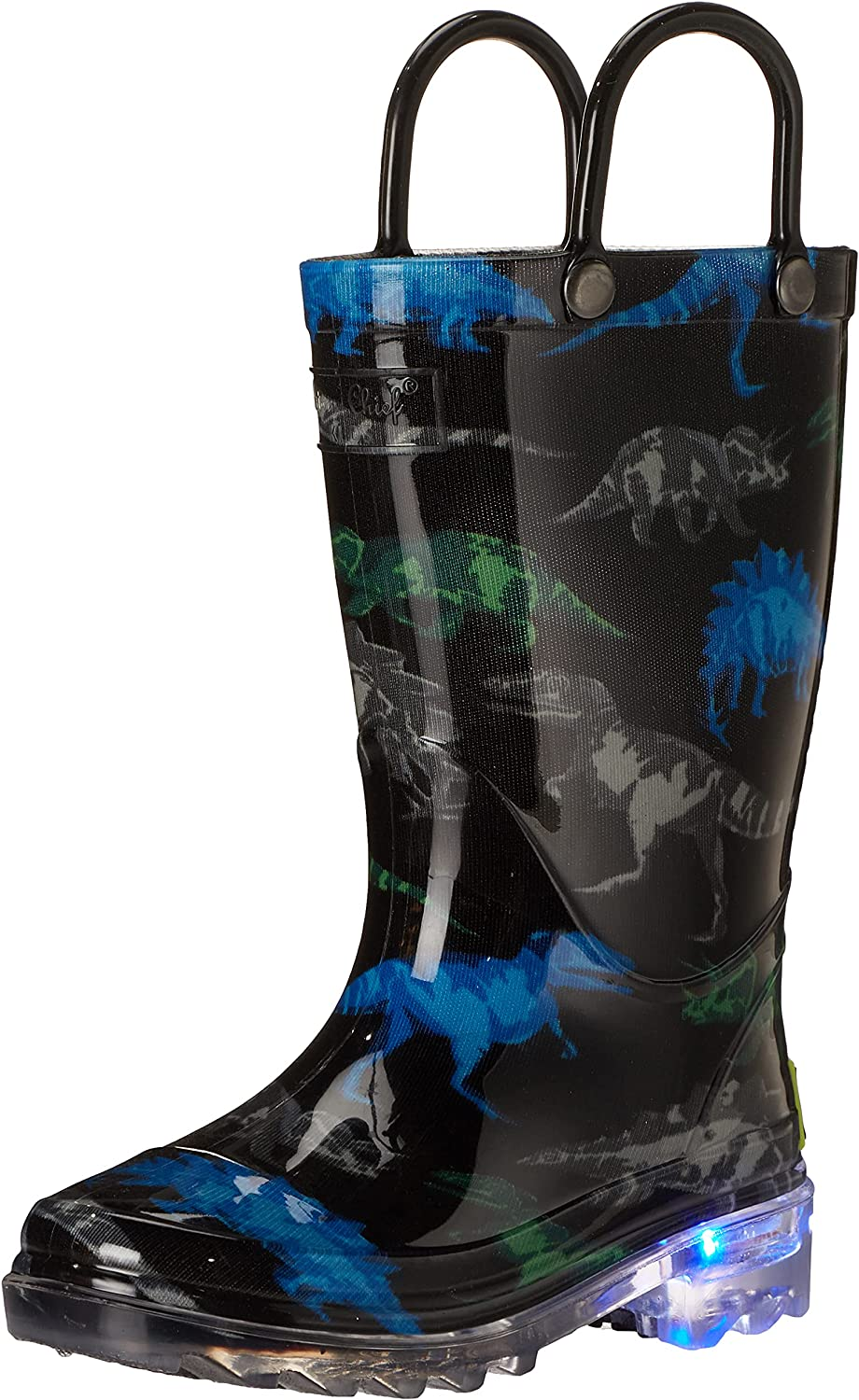 Western Chief Kids' Waterproof Rain Boots That Light up with Each Step