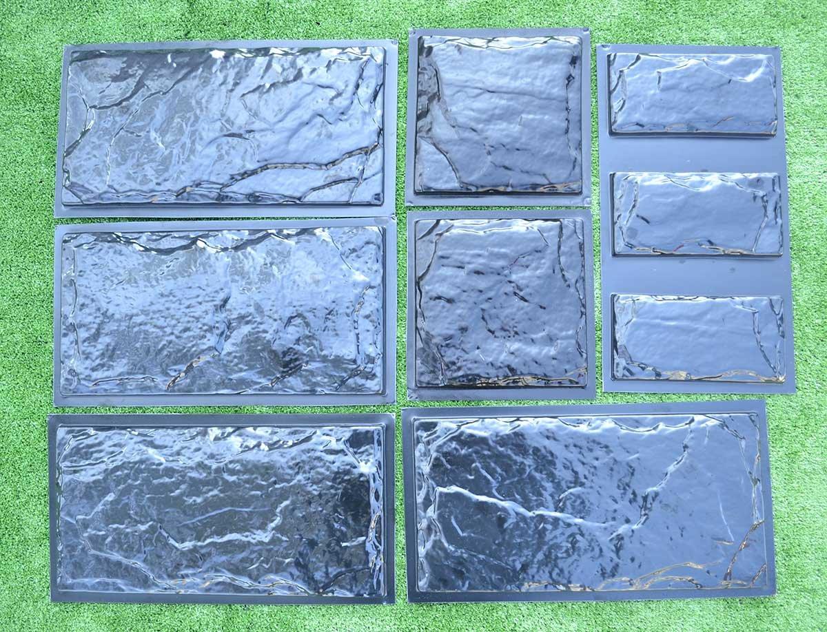 Betonex SET9 Plastic Molds for Concrete Plaster Wall Stone Cement Tiles Concrete Mould #W18