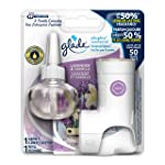 Glade PlugInsScented Oil Warmer and Lavender & Vanilla Refill Starter Kit, Up to 50 Days of Continuous Fragrance