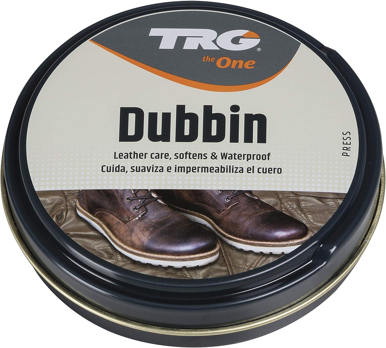 TRG The One - Grasa para Impermeabilizar, Limpiar y Cuidar el Cuero | Crema para engrasar cuero en zapatos y complementos | Incolora, 125ml