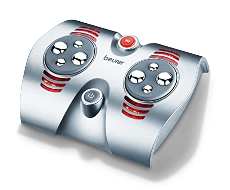 Beurer FM 38 - Zona de masaje para pies, 30 W, función calor, color plata: Amazon.es: Salud y cuidado personal