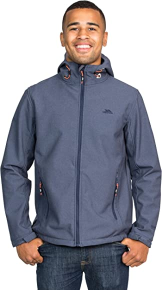 Trespass Taye Mens Softshell Waterproof Jacket Windproof Hooded Raincoat