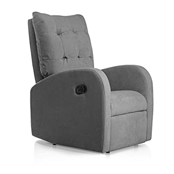 SUENOSZZZ-ESPECIALISTAS DEL DESCANSO Sillon Relax reclinable Soft tapizado Tela Antimanchas Color Gris | Sillon reclinable butaca Relax | Sillon ...
