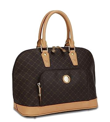 596b709a7b Rioni Signature (Brown) - Dome Handle Bag St-20001  Handbags  Amazon.com