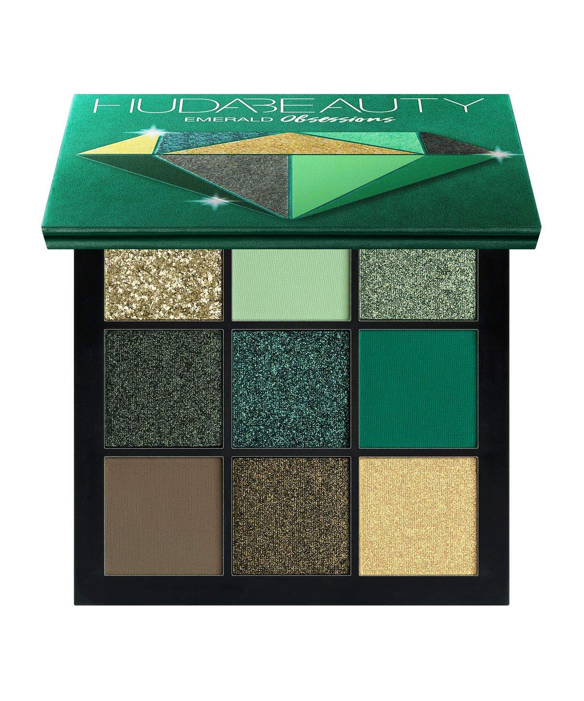 HUDA BEAUTY Obsessions Eyeshadow Palette – Precious Stones Collection COLOR: Emerald