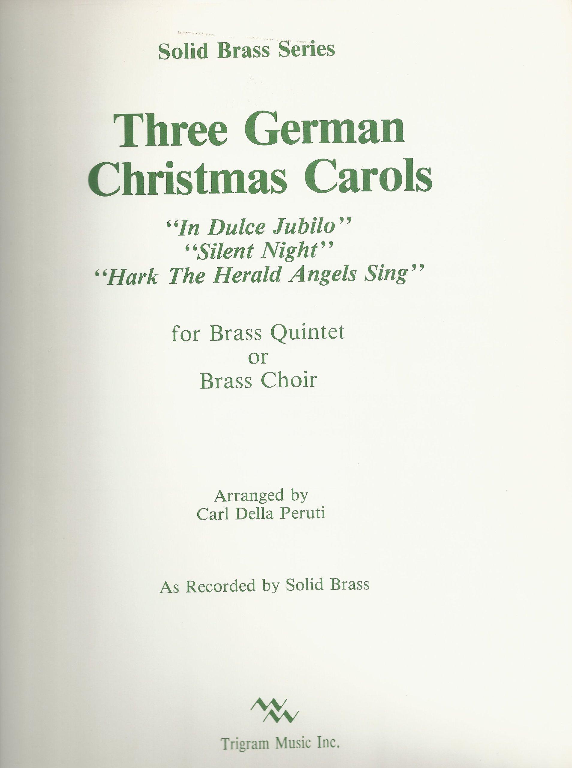 amazoncom three german christmas carols for brass quintet or brass choir solid brass series arranged by carl della peruti books