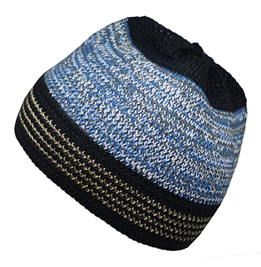 4ee9618ceb63 Al-Ameen Islamic Skull Cap Amn035 Muslim Kufi Hat Stretchy Elastic Beanie  Taqiyah Takke (Color01) at Amazon Men's Clothing store: