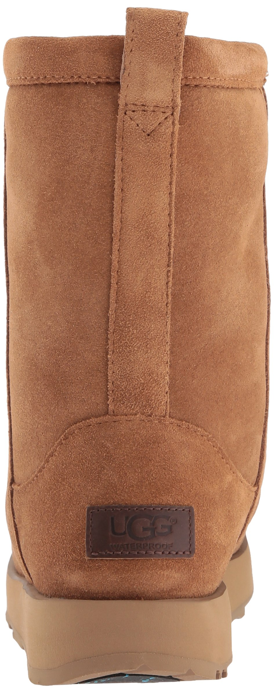 UGG Women's Classic Short Waterproof Snow Boot, Chestnut, 9 M US by UGG (Image #2)