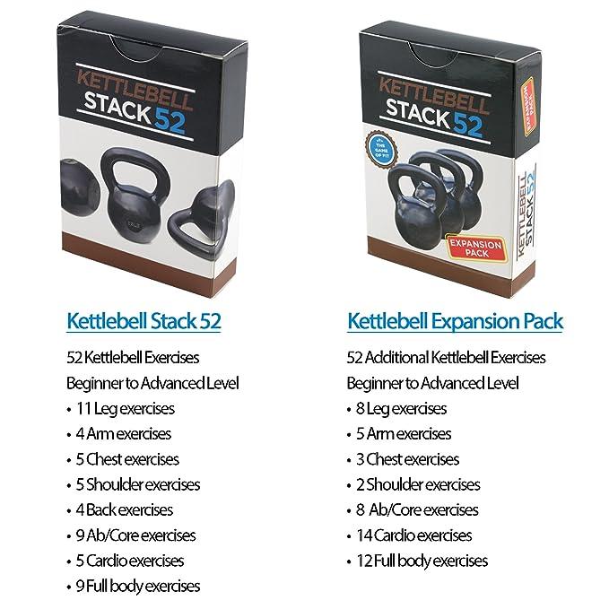 Kettlebell ejercicio tarjetas por Stack 52.: Amazon.es: Deportes y aire libre