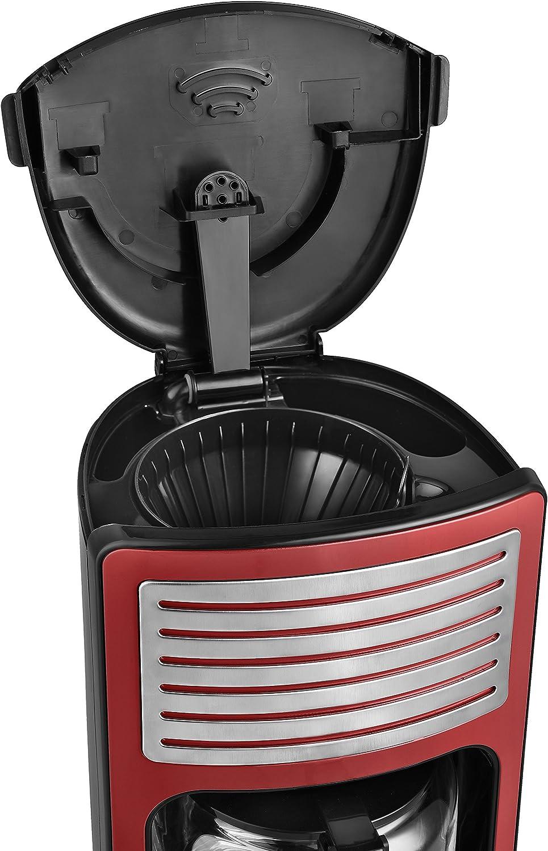 TKG CM 2500 R Rouge Team Kalorik Cafeti/ère /à Filtre avec Capacit/é 1.8 L Jusqu/'/à 15 Tasses 1000 W Verseuse en Verre