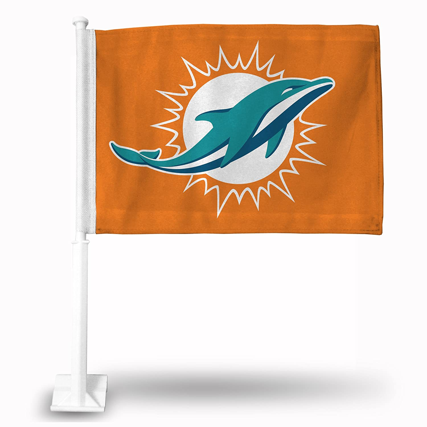 Miami Dolphins Orange Car Flag Rico RPFBMIACFO