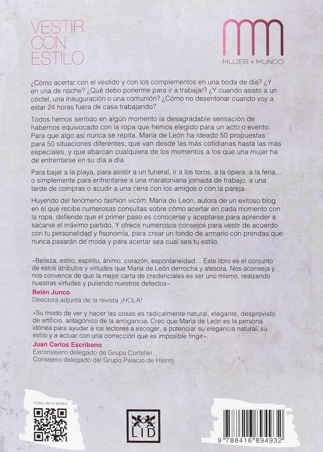 Vestir con estilo (Mujer & Mundo) (Spanish Edition): María León: 9788416894932: Amazon.com: Books