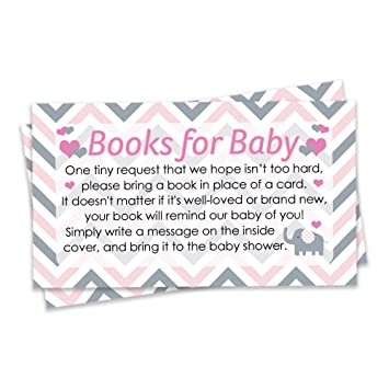 Amazon Pink And Gray Elephant Baby Girl Shower Books For Baby