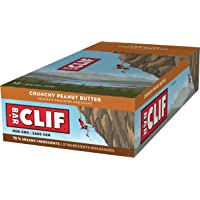 CLIF BAR - Energy Bar - Crunchy Peanut Butter - (68 Gram Protein Bar, 12 Count)